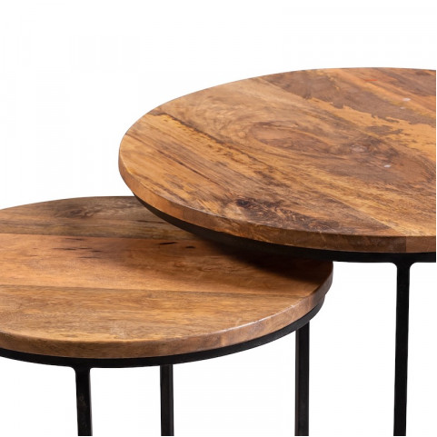 Столики из массива, набор ИНДУ ГУЛАБИ