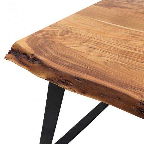 Стол лофт из массива,  ДЖИВАН life black, 1.5 метра