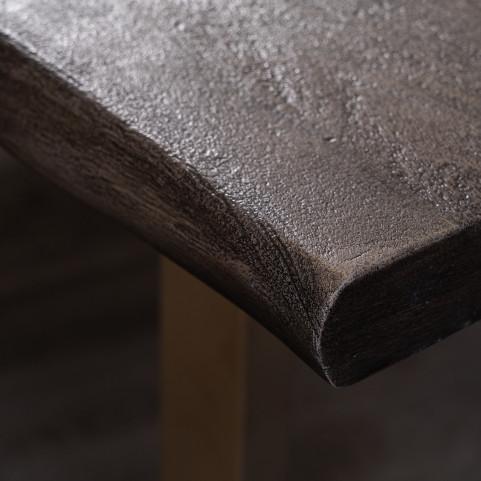 Стол из массива большой, ДЖИВАН platinum silver, 2 метра