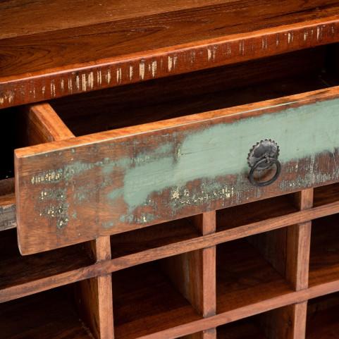 Стеллаж лофт из массива, САГАР для вина